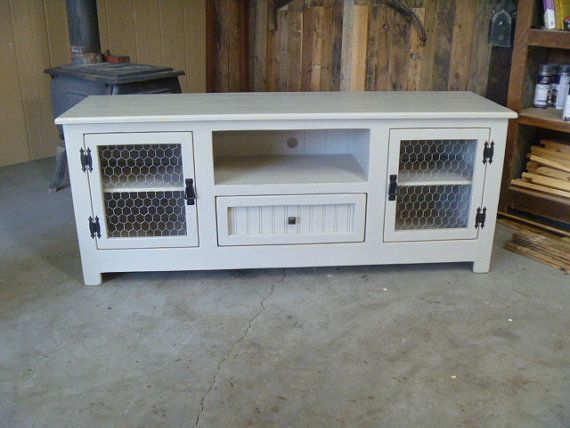 ready to ship cottage tv stand 60 sideboard beach shabby chic rh pinterest com