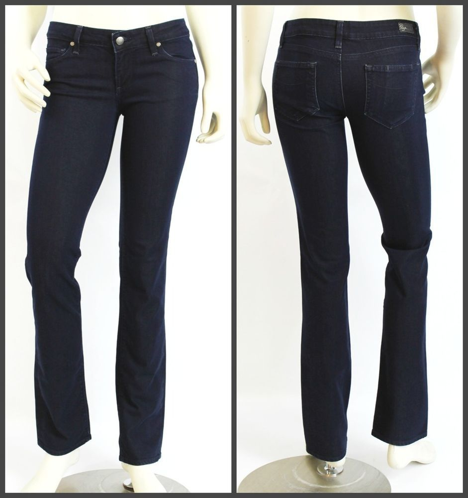 Paige Premium Denim Blue Heights Low Rise Skinny Leg Dark Denim Jeans Size 28 #Paige #SlimSkinny