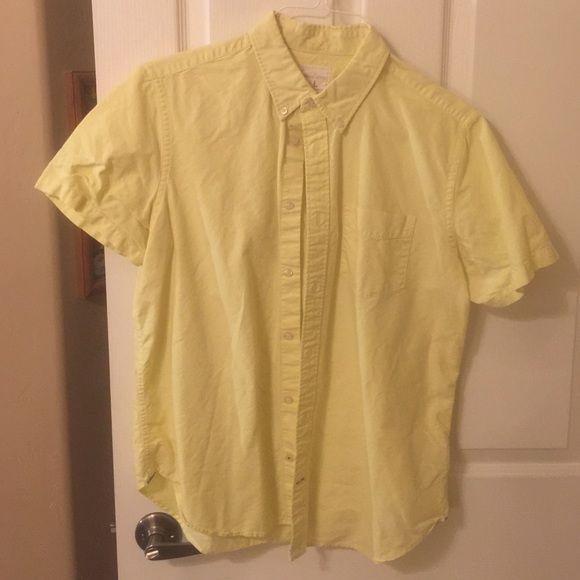 Modern Oxford Washed yellow GAP Tops Button Down Shirts