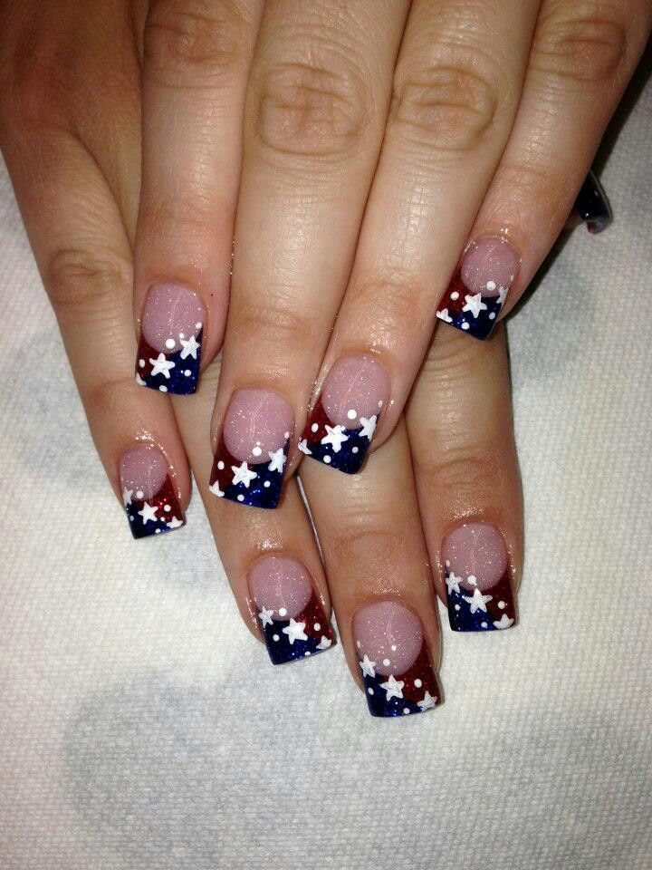 4th nails pretty little nails pinterest nail nail mani pedi 4th nails prinsesfo Choice Image