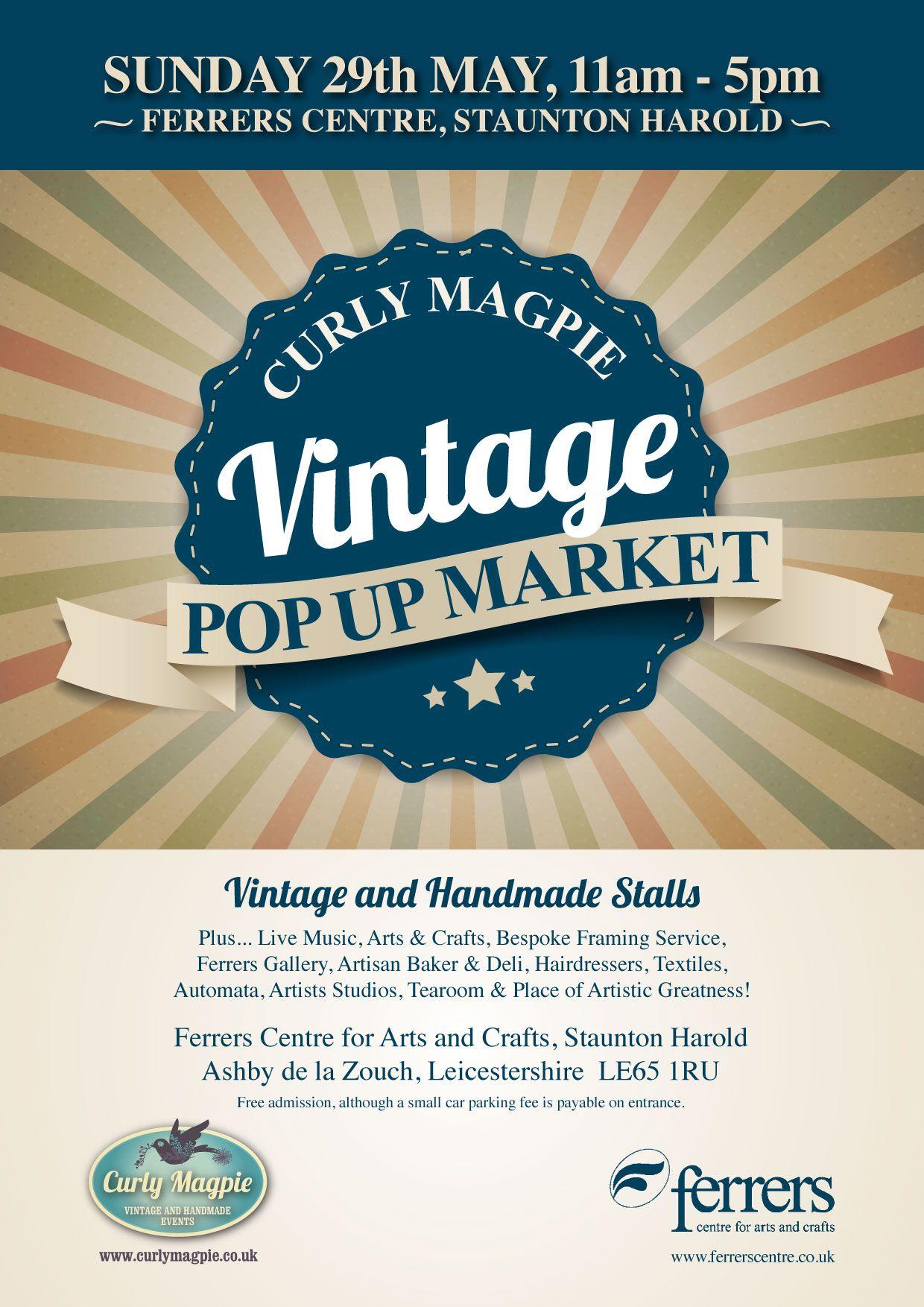 vintagemarket handmademarket vintagefair curlymagpie Derbyshire