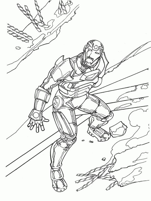 Iron Man Coloring Pages For Kids Printable Online 7