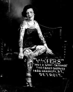Mildred Waters tattooed lady