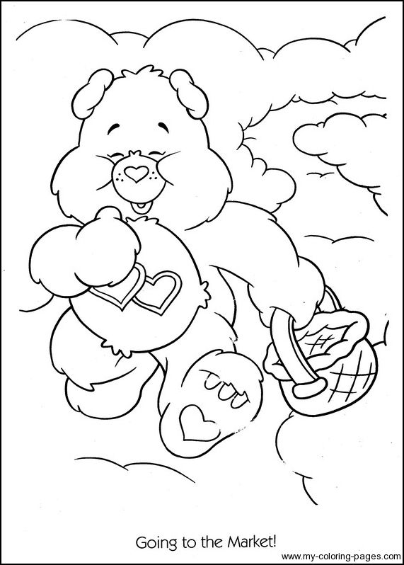 Care Bears Coloring 061 Bear Coloring Pages Cartoon Coloring