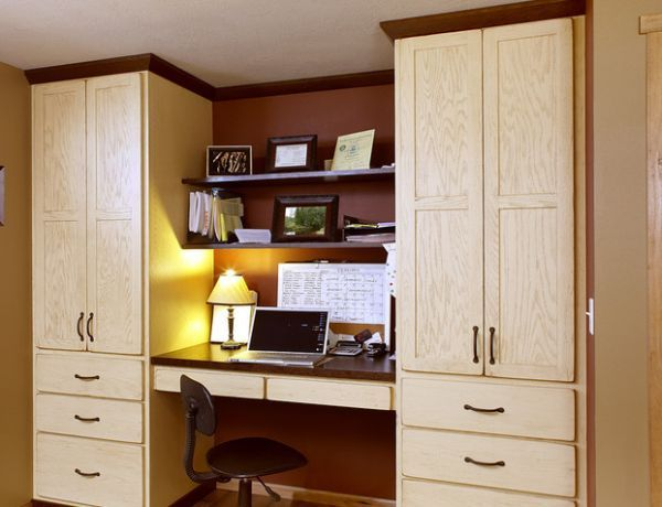 Home Office Cabinet Design Ideas 20 Home Office Design Ideas For Small Spaces  Cozy Office Red .
