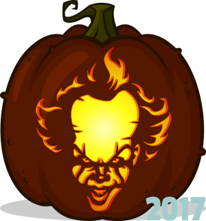 pumpkin template it  Pennywise pumpkin pattern - IT (5) in 5 | Halloween ...