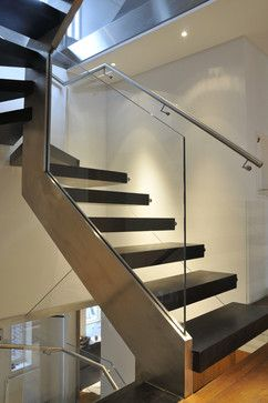 Best Glass Balustrade Staircase Contemporary Staircase 640 x 480