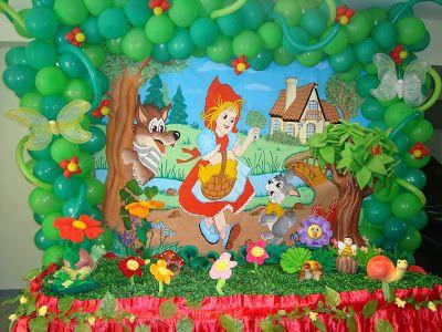 M&M Displays Coloridos Em MDF: TEMA: Chapeuzinho Vermelho e Lobo Mau