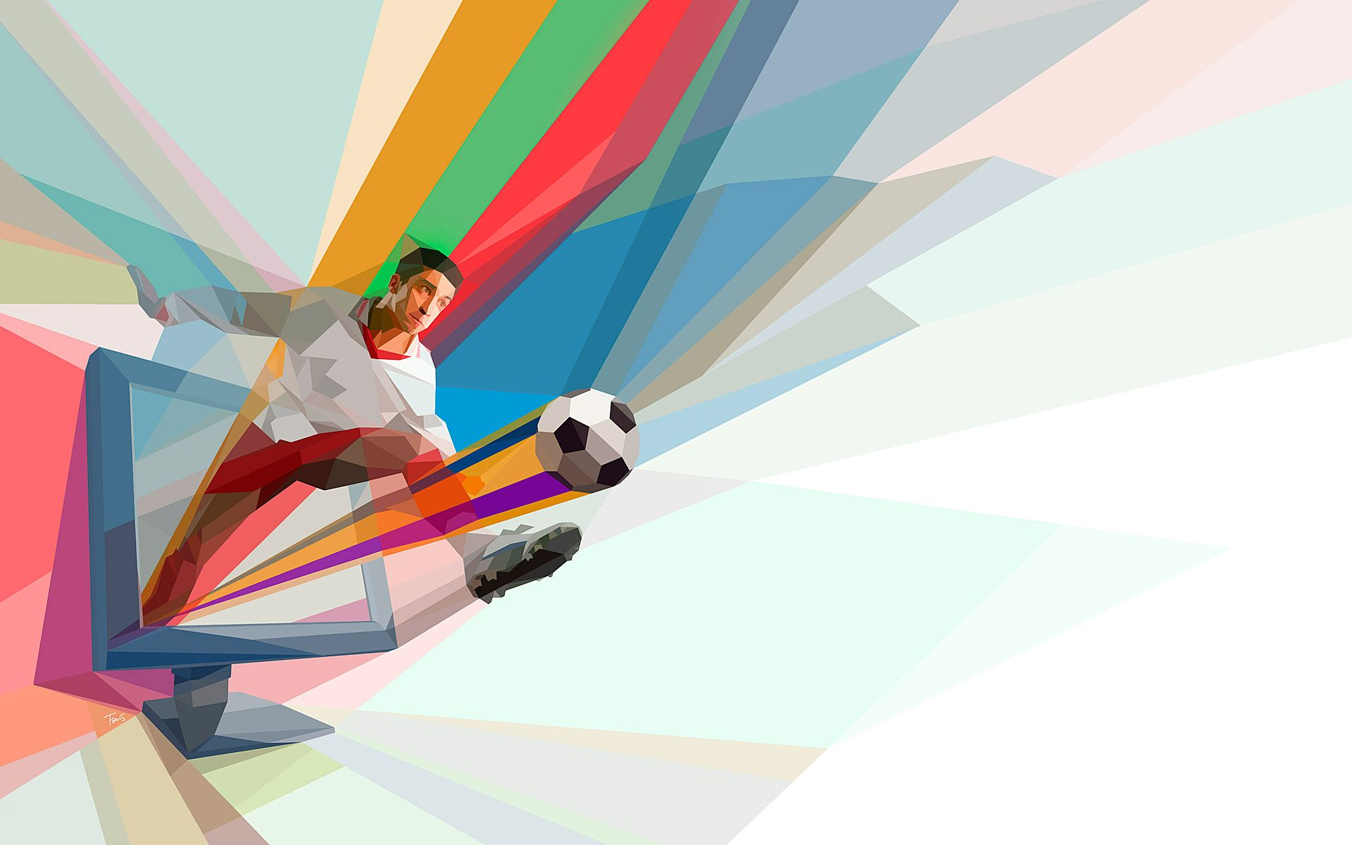 Cool Football Abstract Art Hd Wallpaper Id 6359 Download Page Sports Abstract Sport Inspiration