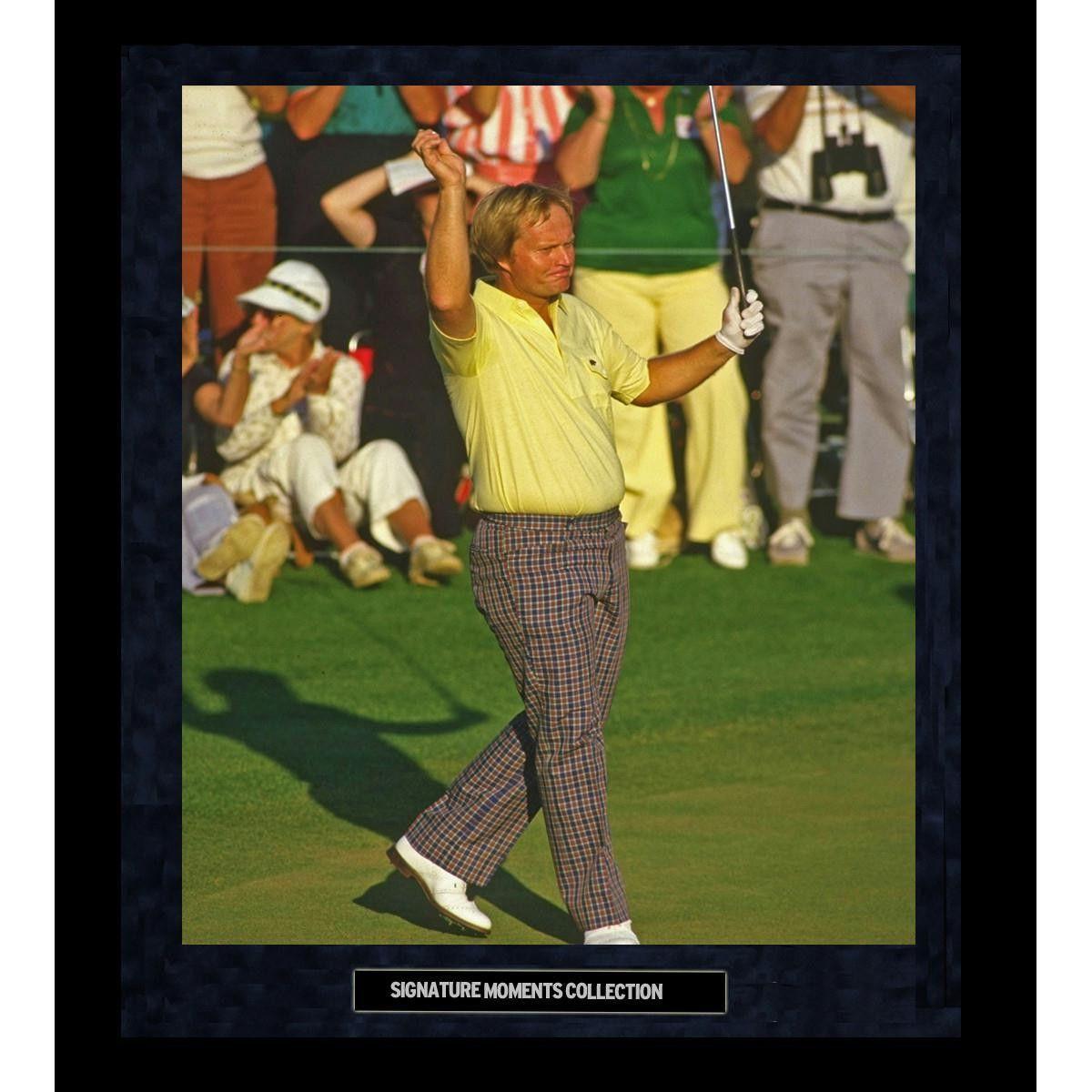 Jack Nicklaus 1986 Masters Wave Framed Golden Moments 16x20 Photo