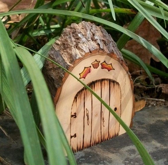 Natural and rustic magical fairy door faerie gnome for Fairy doors to make
