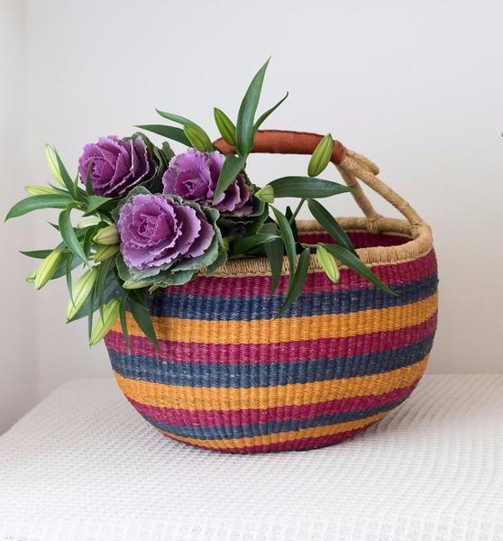 African Baskets: Woven Ghana Market Basket Uk