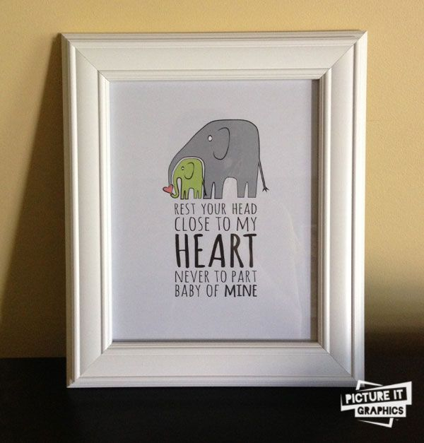 Creative diy baby shower gift idea nursery artwork elephant creative diy baby shower gift idea nursery artwork elephant theme picture it graphics negle Images
