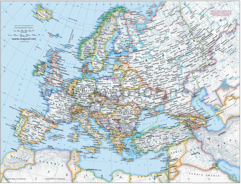 Europe Political Map 5 Mapsofnet For Jason Pinterest