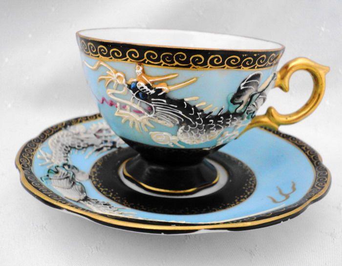 Shafford Japan Texture Bird Dragon Tea Cup And Saucer