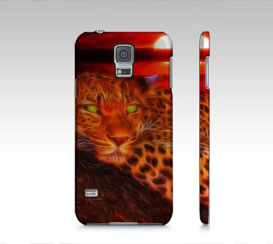 Florescent Orange Leopard Samsung Galaxy5 Case