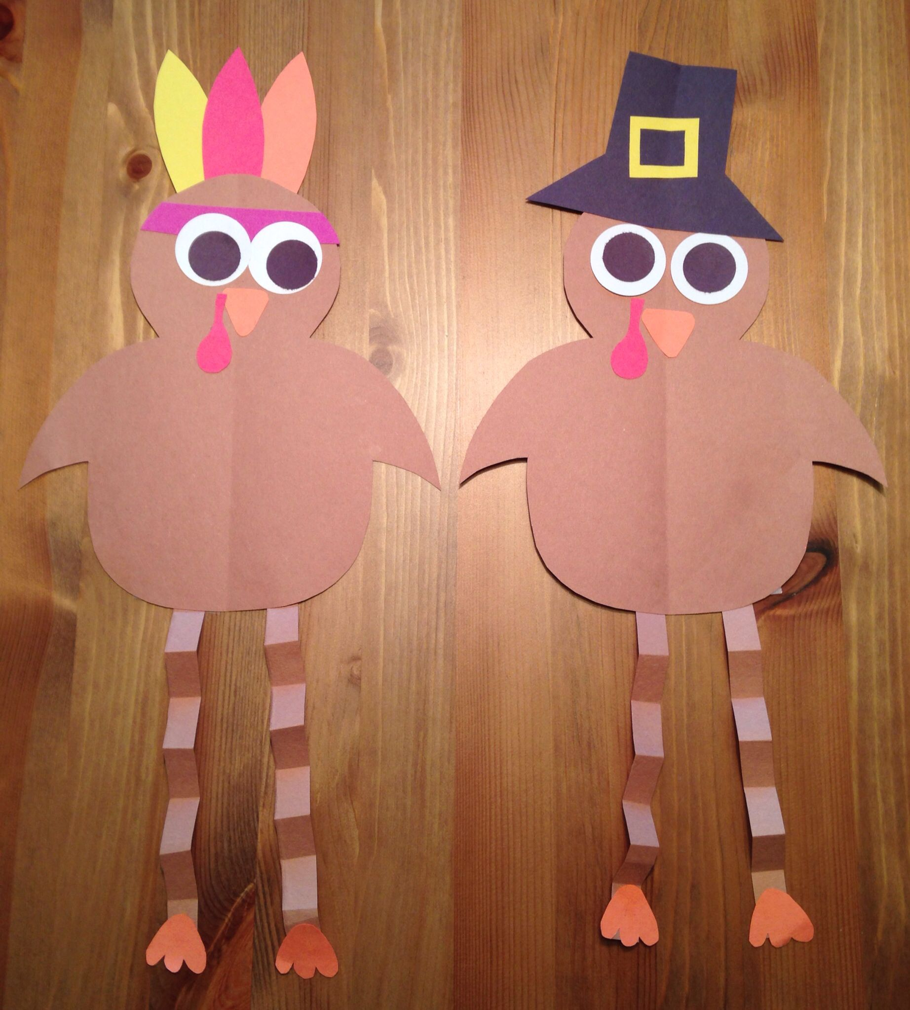 Pilgrim And Indian Turkey Craft