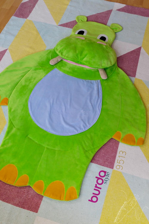 Burda 9513 Hippo Shaped Blanked For Kids Kids Rugs Kids Hippo