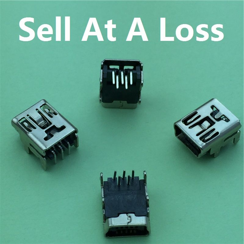 10 pz/lotto Mini pin USB Femmina Presa G35 Connettore 4 piede 90 gradi Pin per Coda di Ricarica Del Telefono Mobile di Trasporto libero