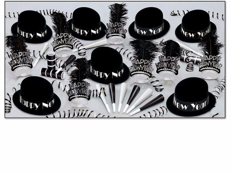 Black Velvet New Year's Party Kit for 50 Party kit