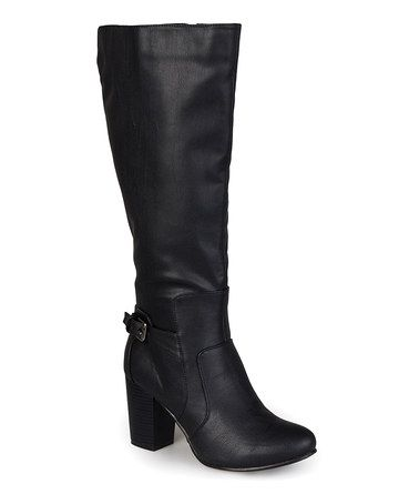 Journee Collection Women's 'Carver' Regular and Wide-calf Buckle Detail  High-heeled Boot - Overstock™ Shopping - Great Deals on Journee Collection  Boots