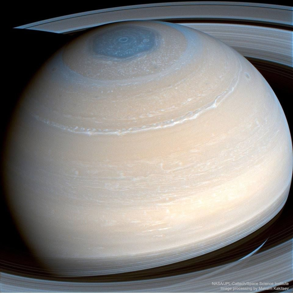4 3 2017 saturn in infrared from cassini image credit nasa