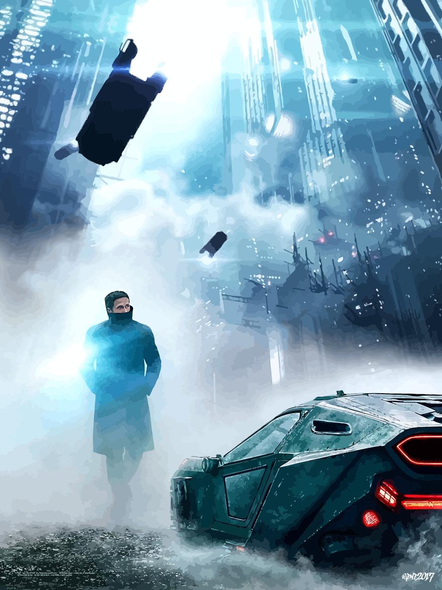Blade Runner 2049 Poster Anime Vector Wallpaper By Elclon
