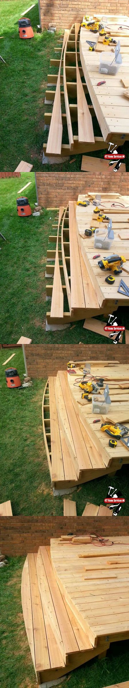 Best Rounded Deck Stairs Deck Stairs Porch Steps Front Lawn 400 x 300