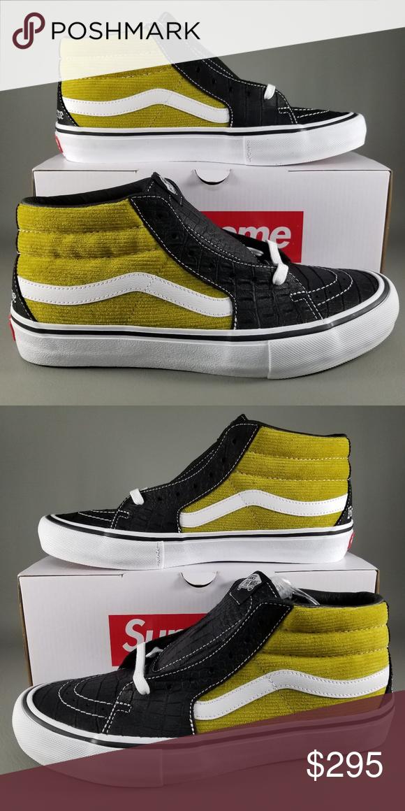 55862f5b08 Vans X Supreme Sk8-Mid Pro Croc Mens Shoes 9 Green Vans X Supreme ...