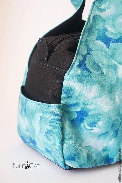 "Bolsas artesanais.  Bag ""Morning Rose"".  Elena Smolkina.  Loja de Mestres Fair on-line.  Flor, plástico"