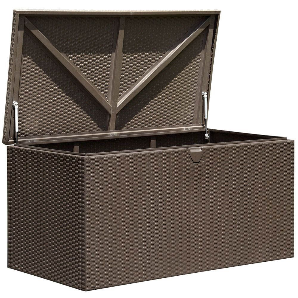10 Charming Diy Outdoor Storage Ideas With Images Metal Deck Metal Storage Box Deck Box Storage