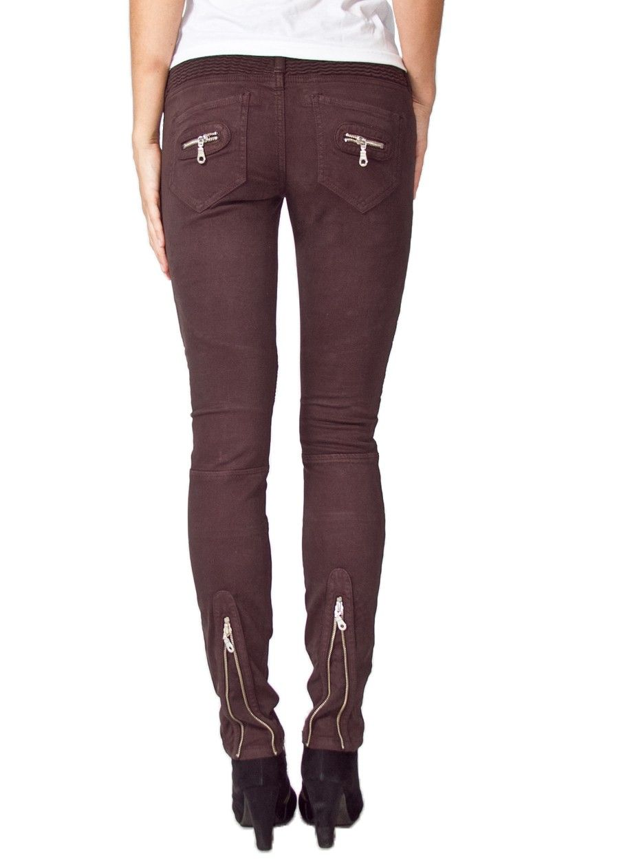 Robin's Jeans MOTORCYCLE SKINNY IN CAPPUCINO
