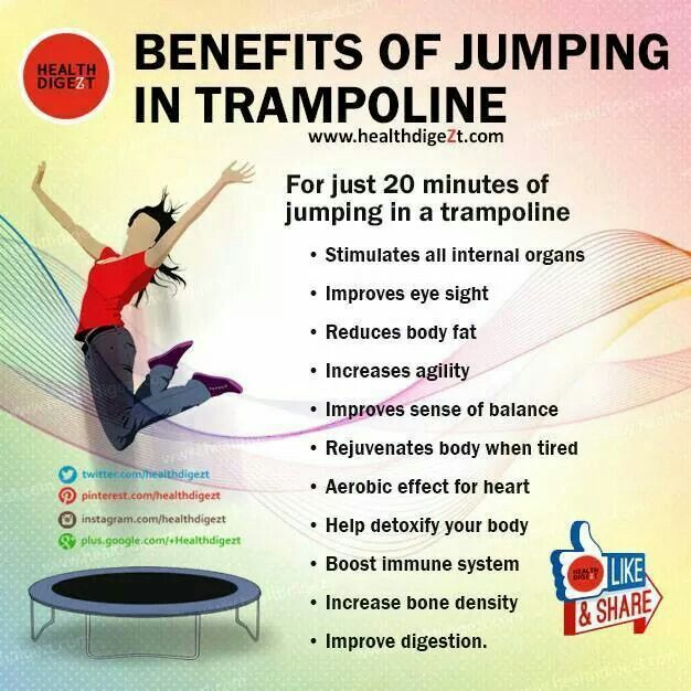 Benefits Of Jumping In Trampoline Exercise Pinterest