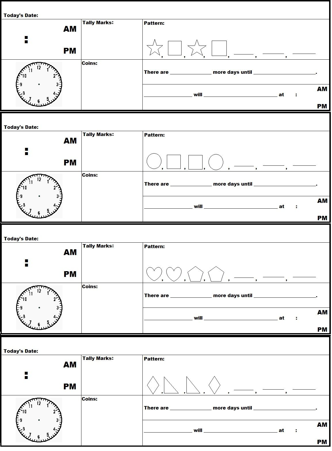 A FREE printable document of Saxon Math 2nd Grade Meeting Strip   Saxon math [ 1565 x 1154 Pixel ]