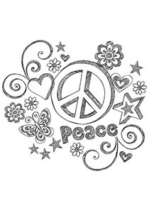Peace Sign Sketch Peace Sign Art Coloring Pages Peace Sign Tattoos