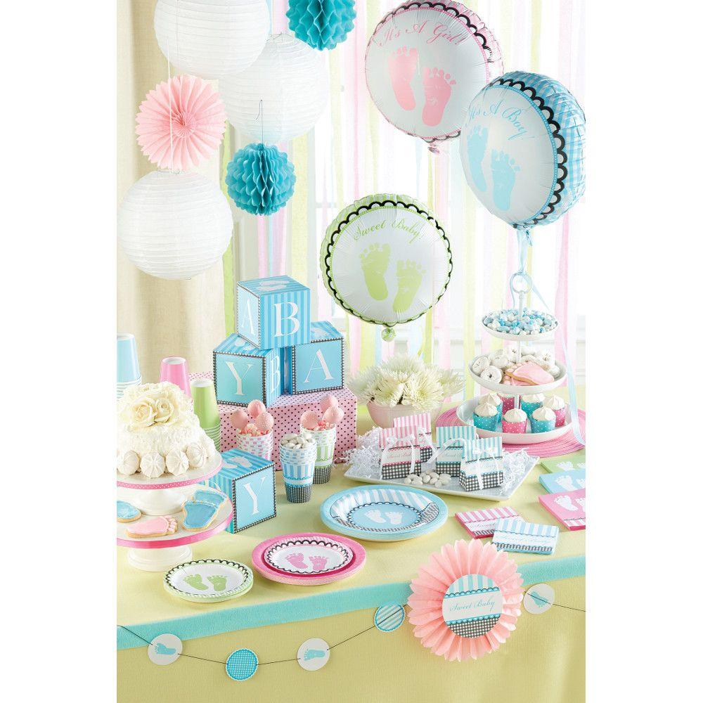 Sweet Baby Feet blau, rosa & grn | Baby Party! | Baby ...