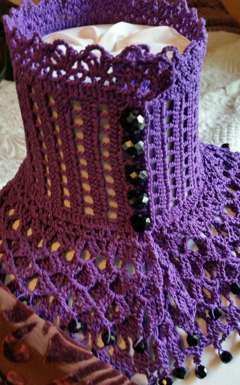 Purple lace crochet choker victorian mourning steampunk gothic purple lace crochet choker victorian mourning steampunk gothic victorian noir by scarletrabbit on etsy bankloansurffo Images