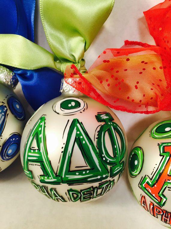 Sorority Ornament Fraternity Ornament Personalized Hand Fraternity Names,  Sorority, Christmas Ornaments, Santa Decorations - Sorority Ornament Fraternity Ornament Personalized Hand Christmas