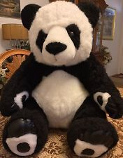 Large Big Panda Bear Plush Stuffed Toy Doll Animal White Black Teddy