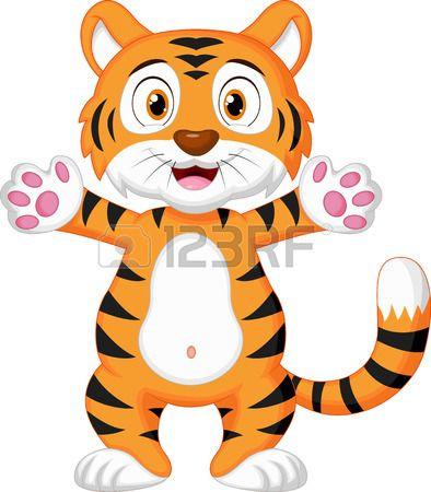 Lindo bebé tigre de la historieta | Tigres | Pinterest | Lindo, Bebé ...
