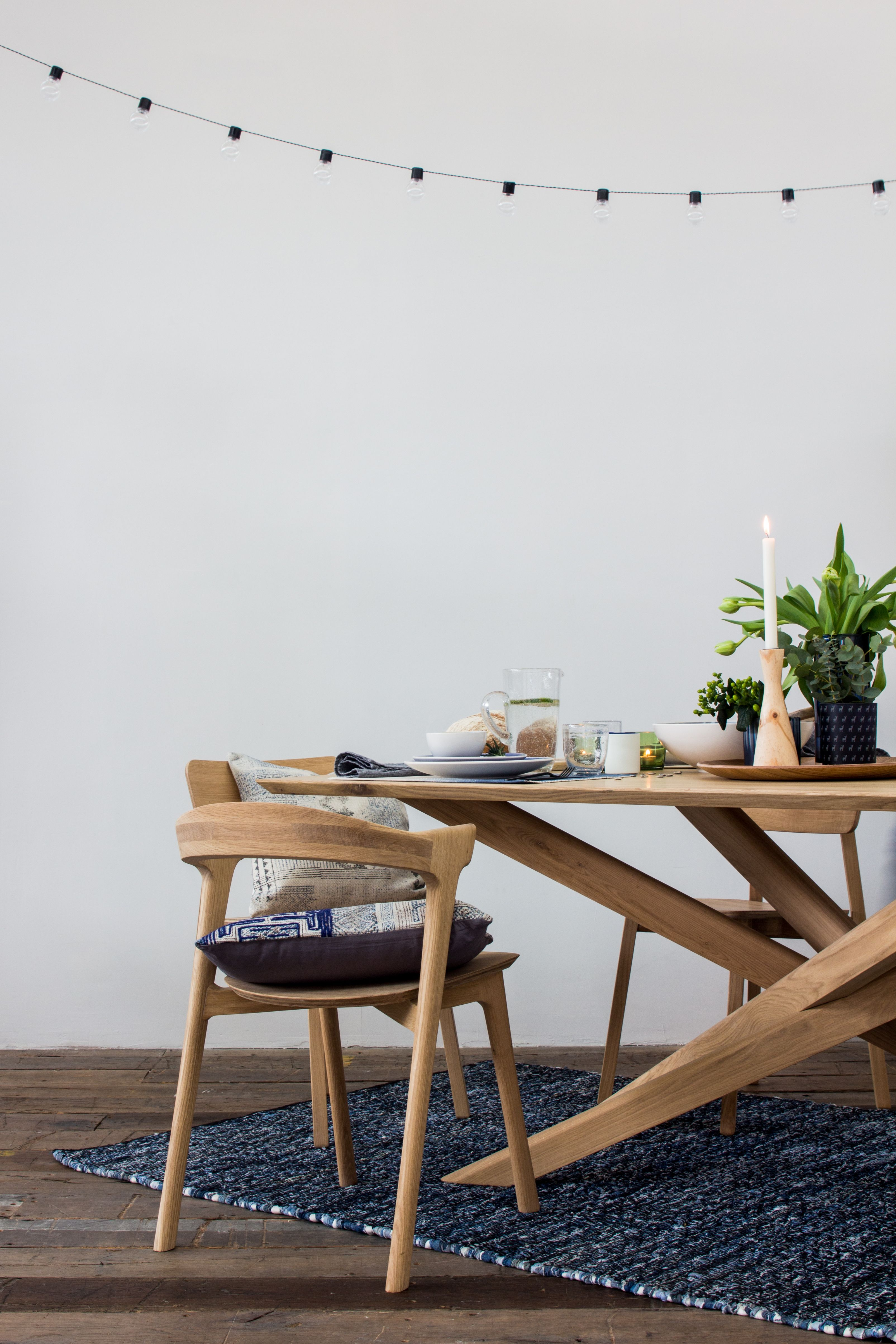 Oak Mikado Dining Table Natural Wood Table Wood Furniture