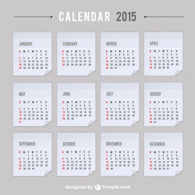 2015 Calendar vector 2015 Calendars Pinterest Calendar design