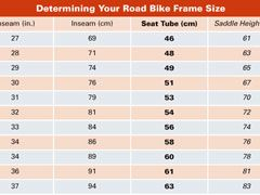 Road Bike Sizing Chart For Men Bike Seat Road Bike Road Bike