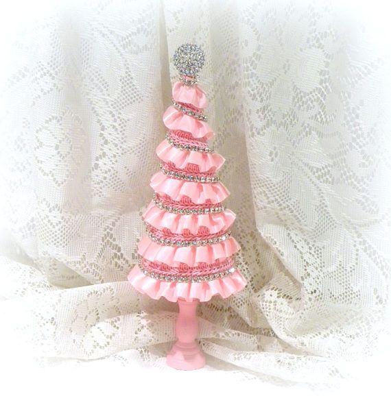 Pink+Christmas+Tree+Shabby+Chic+Christmas+Tree+Pink+Tree