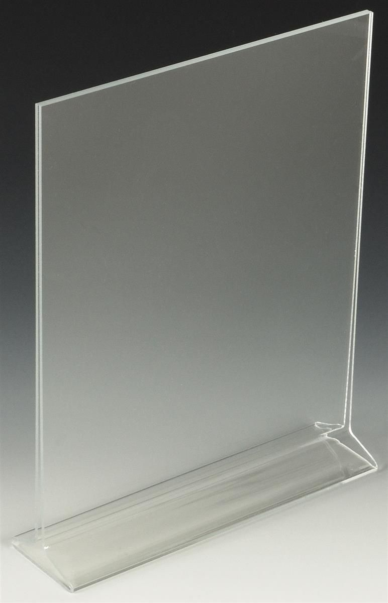 Workshop Series 8 5 X 11 Acrylic Table Sign Holder Top Insert T Style Clear Acrilico