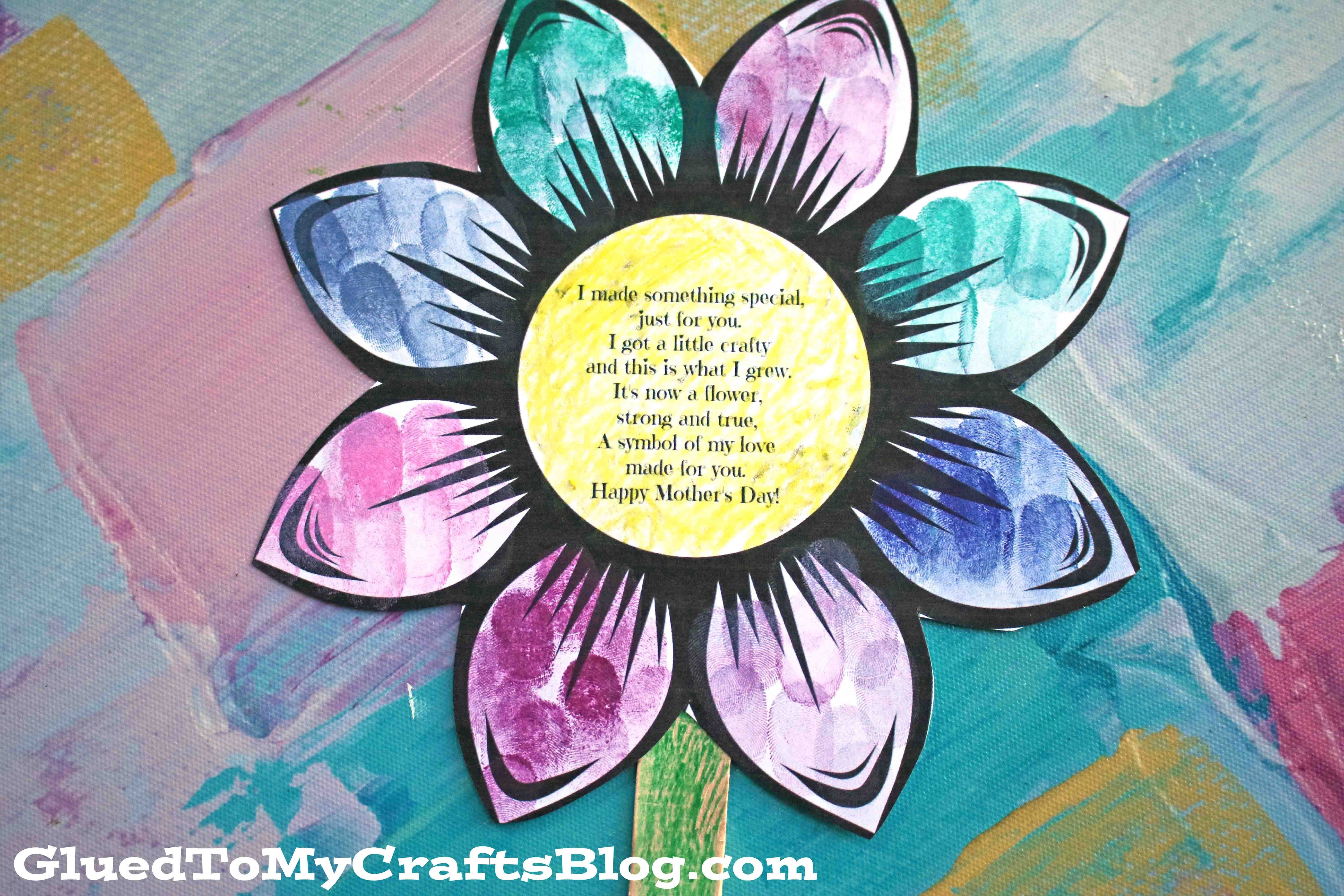 Mother's Day Paper Flower and Poem - Kid Craft in 2020 ...