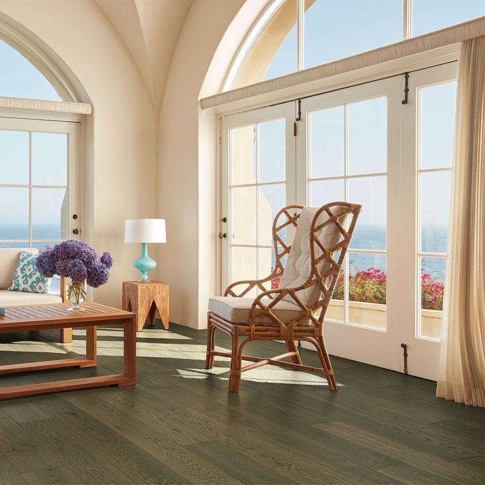 Malibu Wide Plank French Oak Baker 3/8 In. Thick X 6 1/2 In. Wide X Varying  Length Engineered Click Hardwood Flooring (23.64 Sq. Ft.