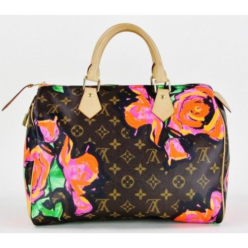 9a699242b446 Louis Vuitton Limited Edition Stephen Sprouse Roses Speedy 30 Bag ...