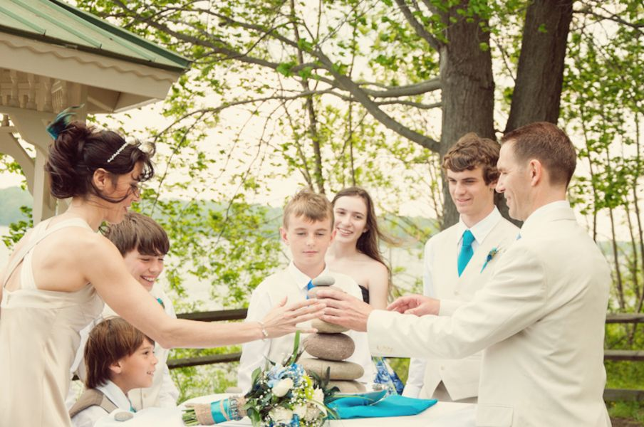 Alternative wedding ceremony idea: Stone Cairn tower ceremony! From ...