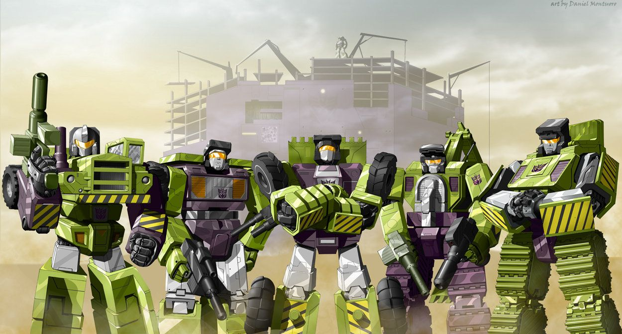 Scrapper, Mixmaster, Hook, Bonecrusher, Scavenger, Longhaul are all in attendanace in this Constructicons team shot. Josh Perez did a great job here on the colors. Michael Bell, the voice actor for...